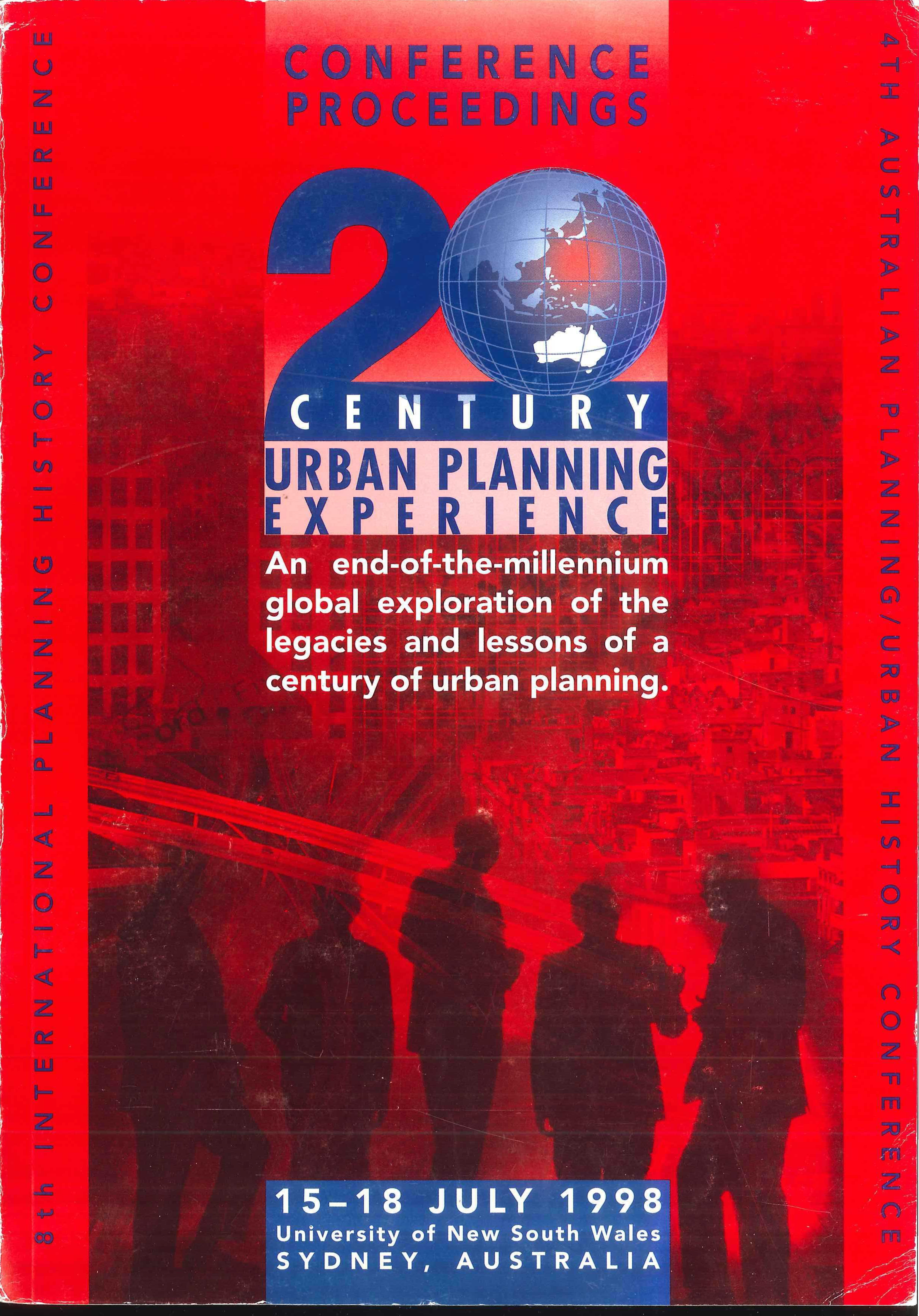 View Vol. 8 No. 1 (1998): 20th Century Urban Planning Experience