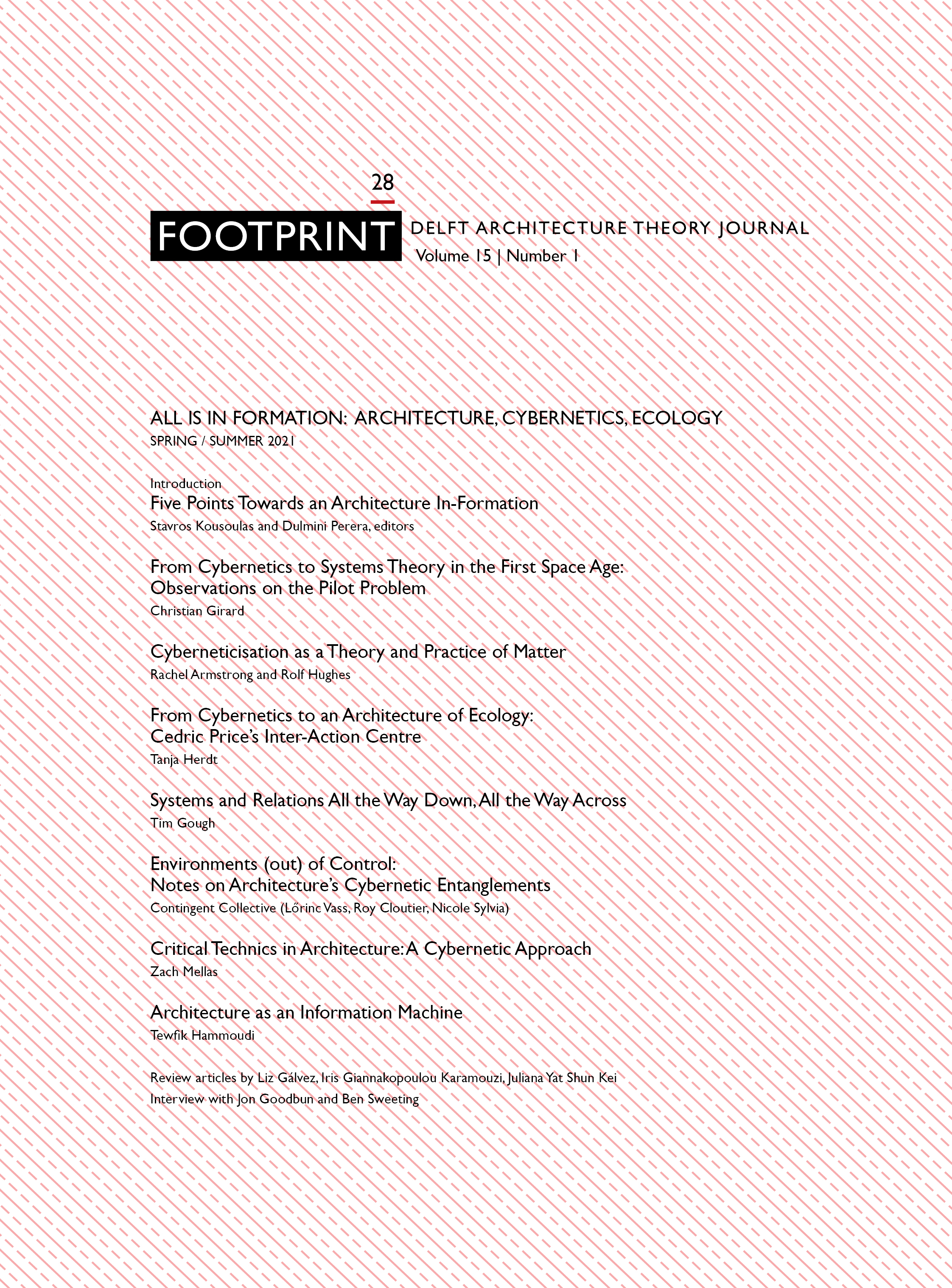 View Vol. 15 No. 1 (2021): Issue # 28 | Spring/ Summer 2021 | All is in Formation: Architecture, Cybernetics, Ecology